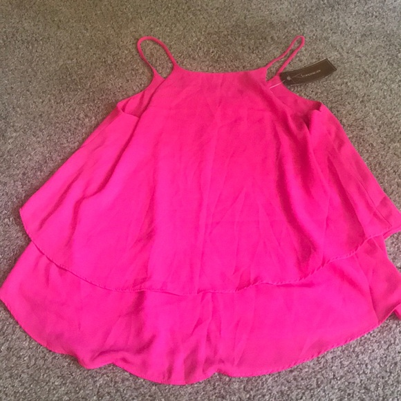 Francesca's Collections Tops - Pink Blouse-Tank